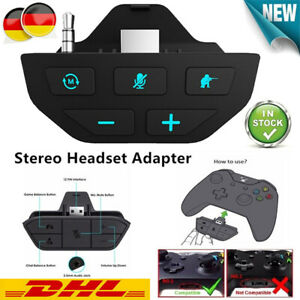 Stereo-Headset-Adapter Kopfhörer-Konverter für Microsoft Xbox One Controller DE