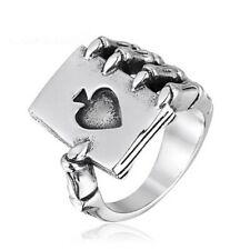 anello in acciaio inox gotico artiglio asso fantasy uomo donna varie misure
