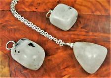 Moonstone Necklace - Tumbled Gemstone Pendant - Polished Crystal (BB17)