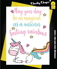 BIRTHDAY CARD Rude Funny Unicorn Friend Sister Girlfriend Wife Daughter  - C24