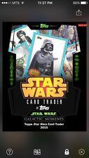 Topps Star Wars Digital Card Trader Galactic Moments Card Trader Insert Award