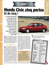 FICHE TECHNIQUE VOITURE HONDA CIVIC CINQ PORTES 1.8 VTi