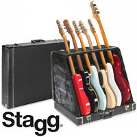 STAGG UNIVERSAL MULTI GUITAR STAND CASE - HOLDS 6 ELECTRIC or 3 ACOUSTIC GUITARS