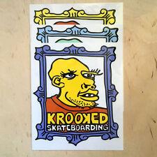 Krooked skateboards vinyl sticker logo strip bumper Mark Gonzales frame vintage