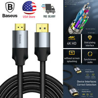 Baseus 4K 60Hz HD DP DisplayPort Male to HDMI Male Adapter Cable Cord For PC PS4