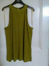 Marks and Spencer sleeveless cutaway sleeve Top size 18 New with tags