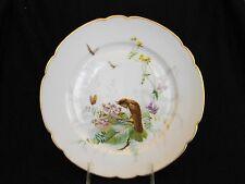 Rare 1845 Artist Signed Boyer Rue de la Paix Old Paris Hand Painted Bird Plate