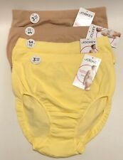 NWT 4 Jockey Seamfree Breathe Brief Panties 1881 Yellow/Light Size 7