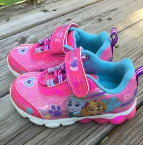 NICKELODEON Paw Patrol Skye & Everest Light Up Athletic Shoes Toddler Size 6