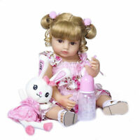 55CM Soft Real Touch Flexible Reborn Toddler Baby Girl Doll Full Body Silicone