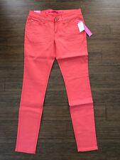 Bright Coral Orange Hot Pink Magenta Skinny Stretch Denim Jeans Pants Jeggings 6