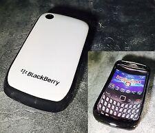 Blackberry Curve 8520/9300 Custodia Cover in bianco e nero * UK Venditore *