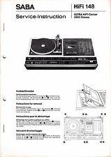 Service Manual-Anleitung für Saba Ultra HiFi Center 9903