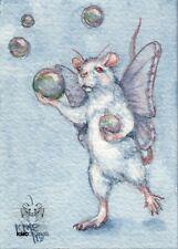 KMCoriginals PRINT Rat Bubble Fairy Faery magic bubbles Reproduction ACEO art