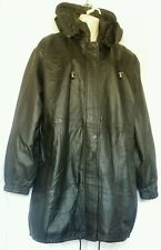 CBO New york Ladies Black Real Leather Jacket 4XL UK 20 - 30 Vintage style New