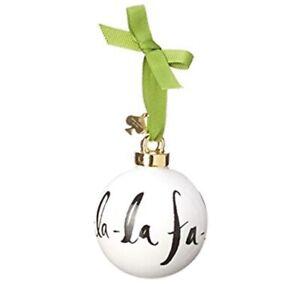 Kate Spade Lenox Deck The Halls Christmas Ornament FA LA LA  NEW IN BOX
