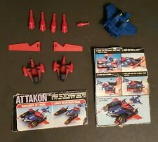 Takara Kronoform ATTAKON Robot parts and pictures on cardboard ripped from box