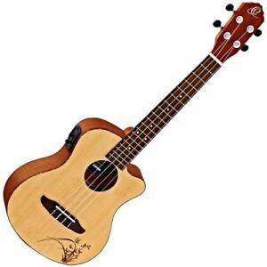 Ukulele Ortega Guitars RU5CE-TE Fichten Sapeleholz Tenor Cutaway Tonabnehmer