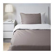 Ikea Farglav Single Duvet/Quilt Cover & Pillowcases - Grey & White 802.299.04