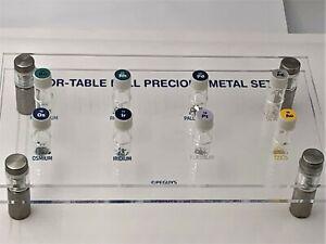 POR-TABLE FULL PRECIOUS METAL SET inc Rhodium Iridium Gold Osmium Palladium