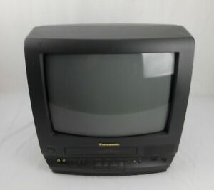 """Tested Panasonic 14"""" Color TV/VCR Combo Remote PV-M1347 Retro Gaming"""