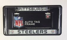 Pittsburgh Steelers Chrome Metal License Plate Frame - Auto Tag Holder - NEW