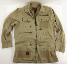 Vtg Ralph Lauren Khaki Safari Photographer Hunter Jacket Size M Medium Unisex