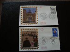 FRANCE - 2 enveloppes 1er jour 1995 (rafle vel dhiv-correze) (cy21) french