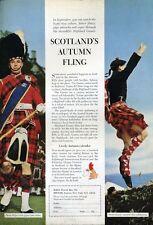 1965 British Travel Scotlands Autumn Fling Hammer Throw Caber Throw... PRINT AD