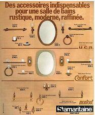 Publicité Advertising 1978 Les Accessoires pour salle de Bain Samaritaine