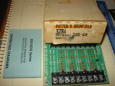 Potter & Broomfield 3784 Solid State Relay Board P/N 2IO-4A  NIB