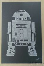 R2 Screen Print Poster Tekst xx/100 Signed/Numbered Star Wars