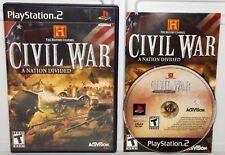 History Channel: Civil War A Nation Divided (Sony PlayStation 2, 2006) PS2 Game