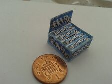1/12 Scale - Box of (Blue) Bounty Bars Sweets for Dollshouse Miniatures