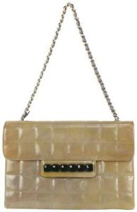 Chanel Purple-Taupe Chocolate Bar Quilted Keyboard Chain Flap 104c54