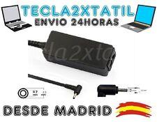 cargador de y para portatil asus 19V 2,1A 2,3 0,7 40W cable corriente opcional