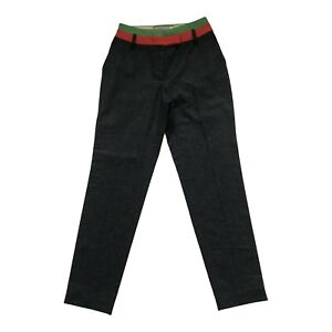 Paul Smith Ladies Dark Charcoal Cashmere Blend Trousers Size 42
