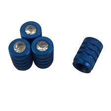 4pcs Light Metal Blue Car Tire Tyre Wheel Valve Stems Caps Cover Accessories