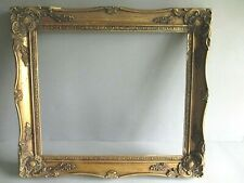 More details for vintage wood gold decorative gesso picture frame - painting photo (c)