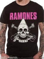 Official Ramones Pinhead Skull / Seal T Shirt  Gabba Gabba Hey Ho Lets Go New