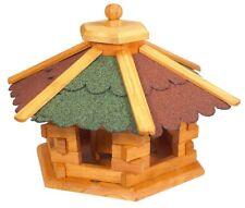 VOGELHAUS SECHSECK groß oder klein wählbar mit FUTTERSILO Vogelhäuschen Holz