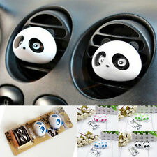 2PCS Cute Original Panda Car Perfume Air Freshener Auto Detailing Accessories