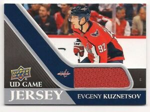 Evgeny Kuznetsov 20-21 Upper Deck 1 UD Game Jersey Game Used Jersey