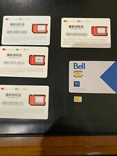ONE (1) SIM CARDS BELL, FIDO AND ROGERS