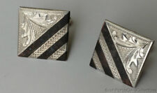 Estate Jewelry Intricate Design Japan .925 Sterling Silver Cufflinks .80""