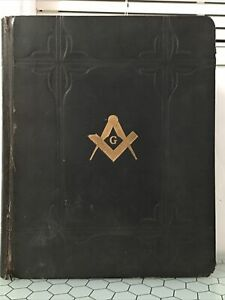 Vintage 1932 Huge Free Mason Holy Bible 1611 Masonic Memorial Edition Leather
