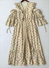 Sea New York Holiday Floral Maxi Dress Cream US6 / UK12 Cotton BNWT RRP£400