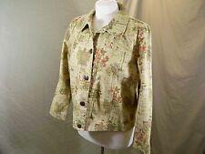 628196445f684 Draper s   Damon s Petites Jacket Tan Print Lightweight Women s Size Medium