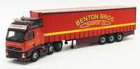 Corgi 1/50 Scale Model Truck CC14005 - Volvo FH Curtainside - Benton Bros