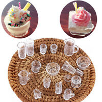 1:12 Scale Doll House Tableware Plate 15PCS Cup / Dish / Bowl Set